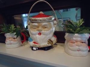 Vintage Santa cups