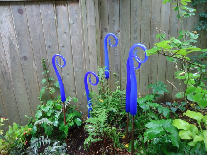 glass for the garden, garden art