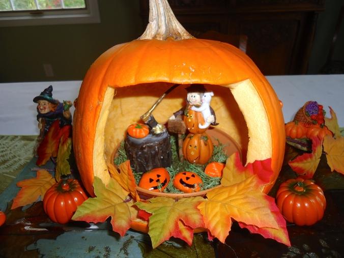 Making a Halloween pumpkin garden